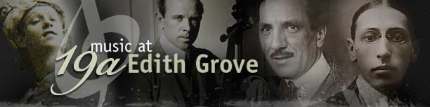 Music at 19a Edith Grove